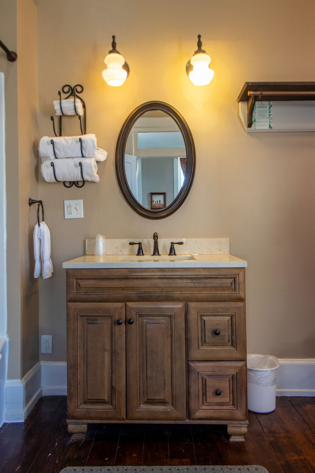 Nauvoo Hotel Bathroom sink and mirror